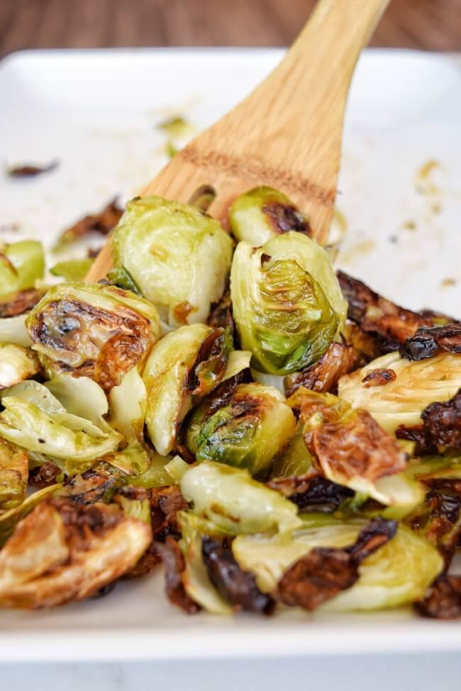 Sticky Sweet Glazed Brussels Sprouts
