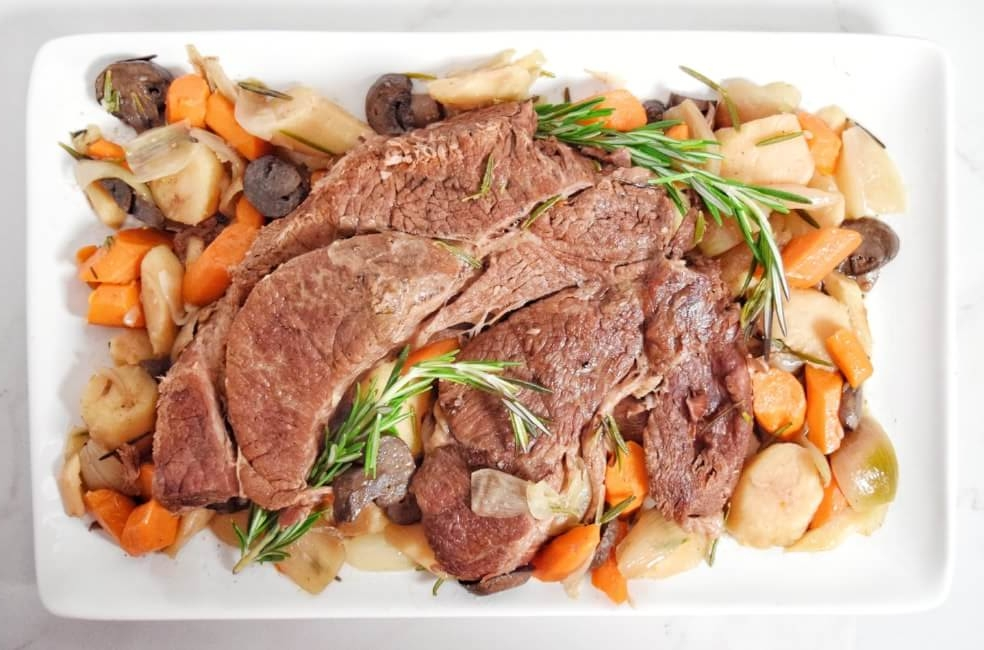 Slow Cooker Rosemary Shallot Pot Roast