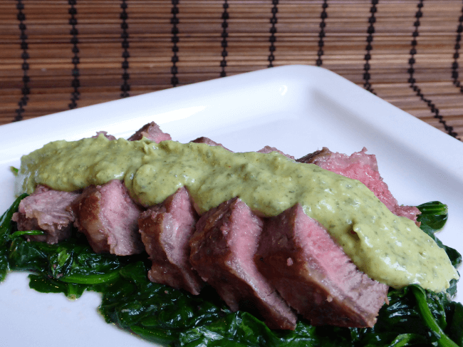 Seared Steak with Avocado Cream Sauce (Dairy Free) | Personally Paleo