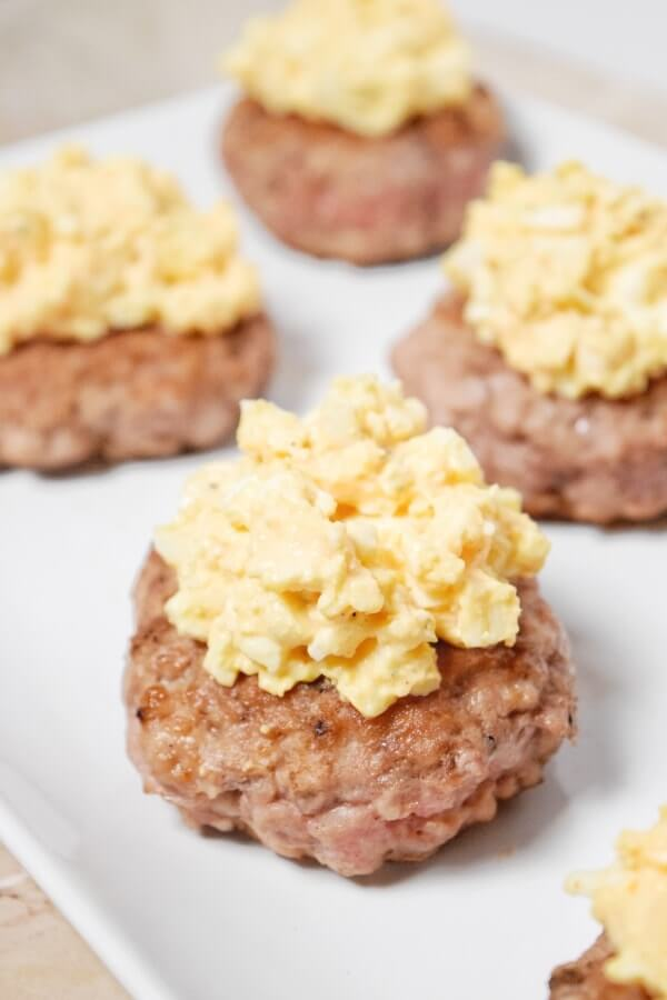 Pork Burger with Deviled Egg Salad (Whole30, Dairy Free) | Personally Paleo