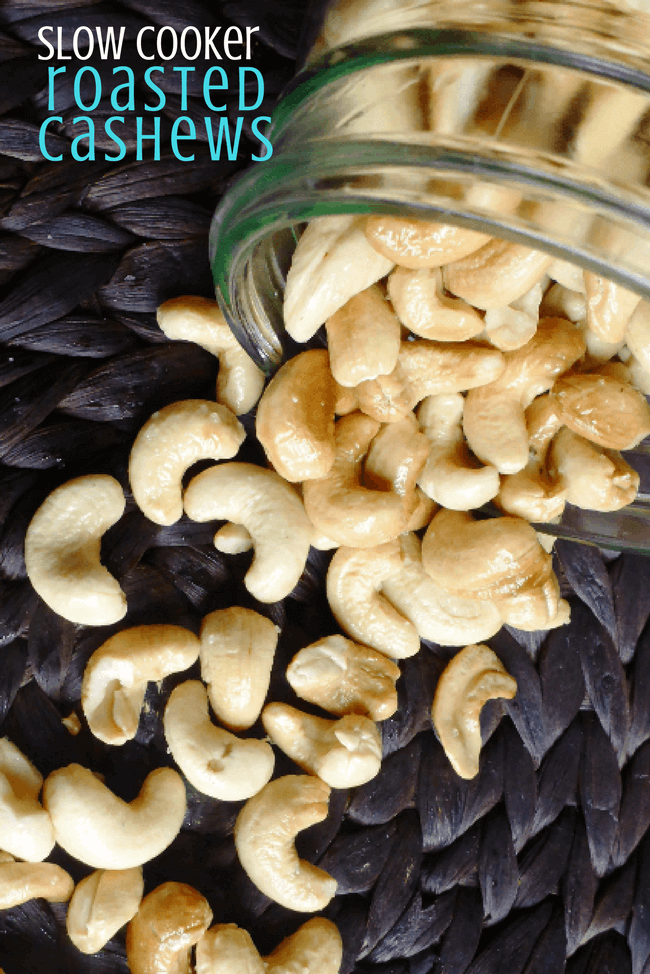 Slow Cooker Roasted Cashews (Whole30) | Personally Paleo