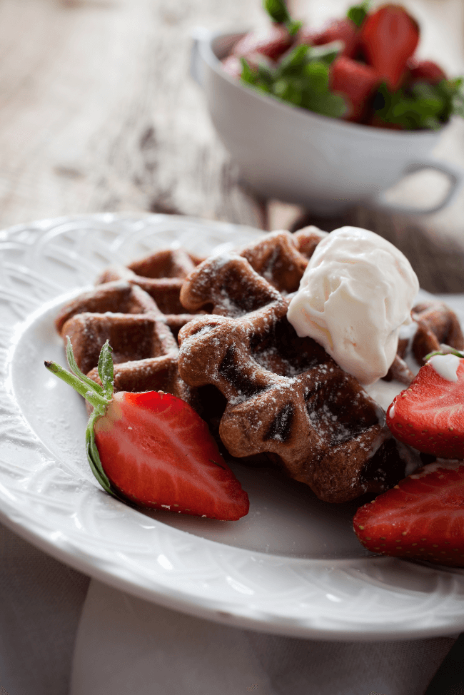 Cacao Nib Waffles by Wholly Me (Guest Post)