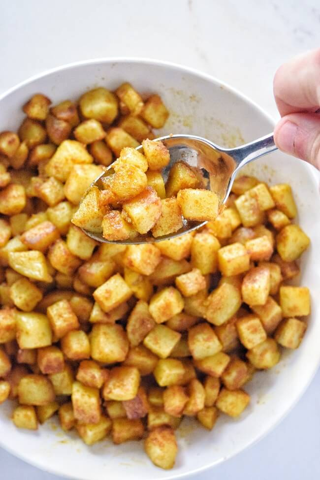 Whole30 Curried Potatoes (Sugar Free, Vegan, Dairy Free) | Personally Paleo