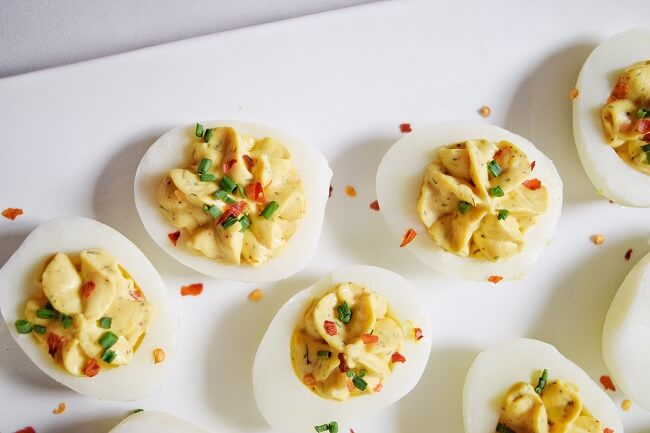 Paleo Spicy Ranch Deviled Eggs