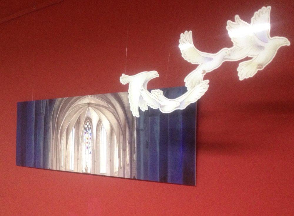 El quadre de la Catedral que vaig exposar a la Ruta de l'Art #acastelloendiemcatedral