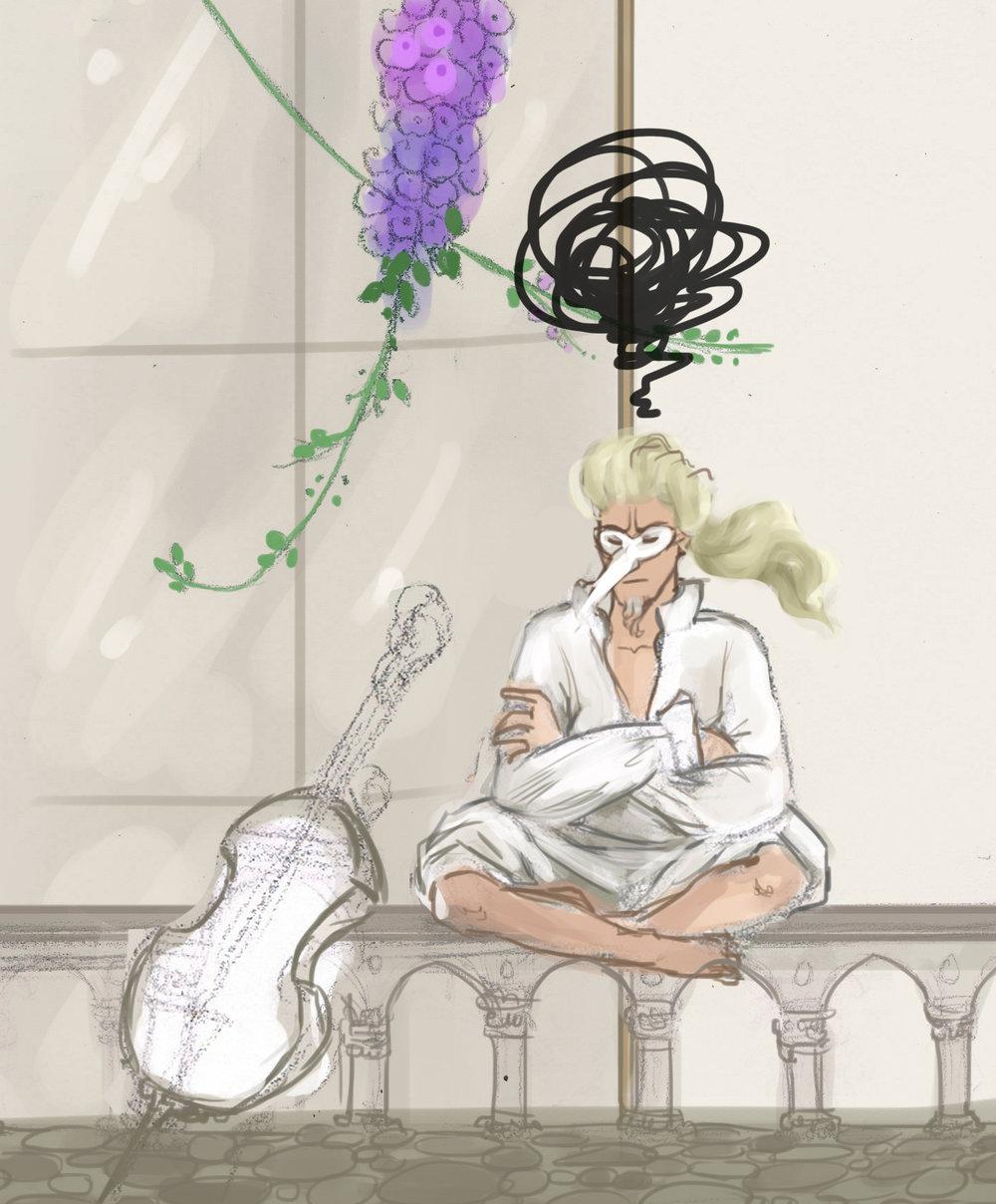 Este músico es precisamente un boceto inacabado, de un proyecto en stand-by, y he pensado que venia perfecto para el post!