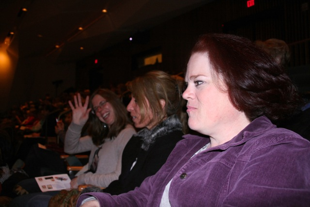 After a long day of looking at quilts and vendors, we enjoyed a relaxing evening listening in at the evening lecture.