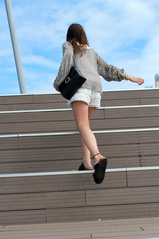 street style embellished shorts