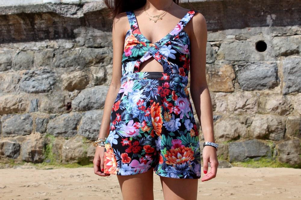 floral print romper summer look fashion blog
