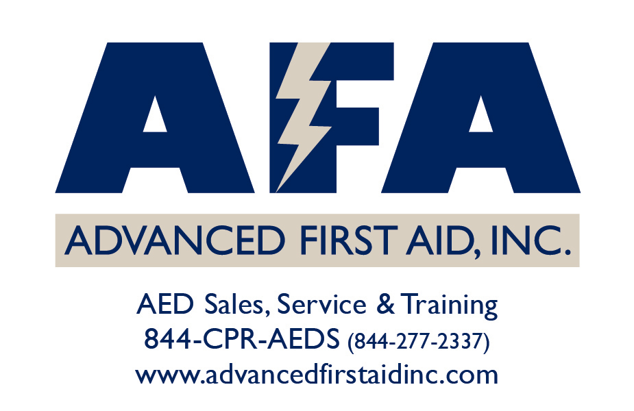 AED provided by Advanced First Aid, Inc.