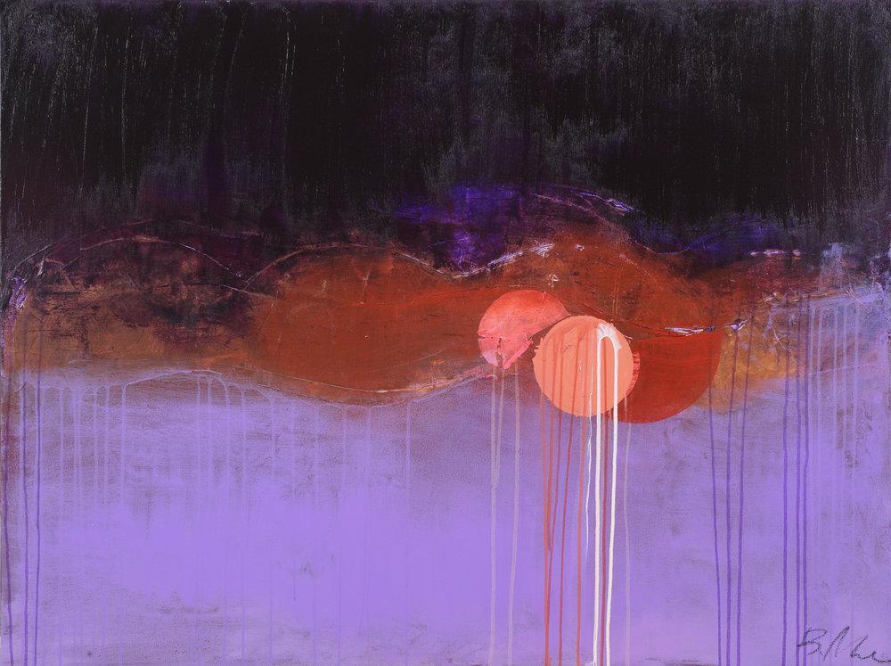 "Concrete , acrylic on canvas, 48"" x 36"""