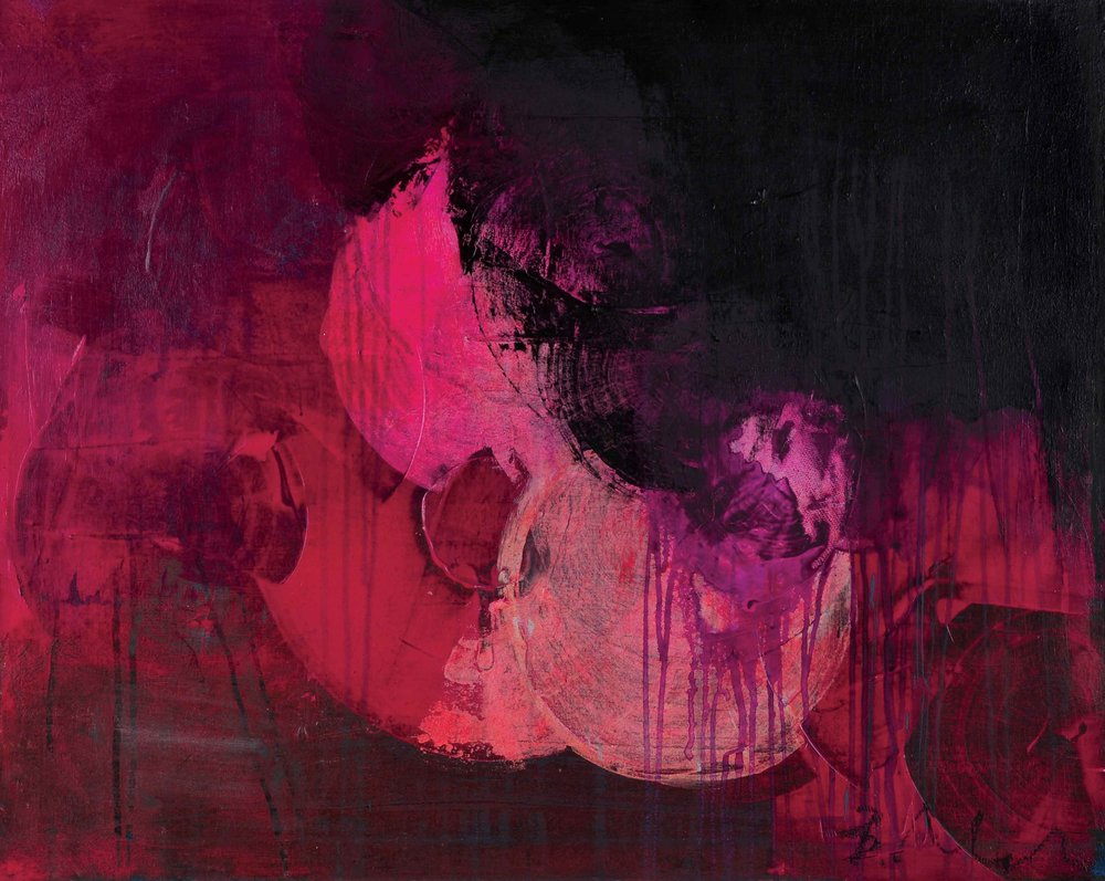 """The Good, The Bad + The Ugly , 36"""" x 24"""", acrylic + ink on canvas"""