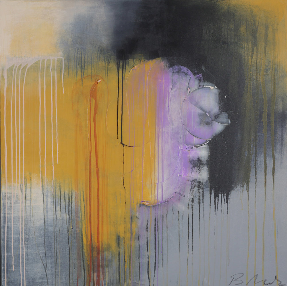 "Transformation , 48"" x 48"", acrylic + ink on canvas"