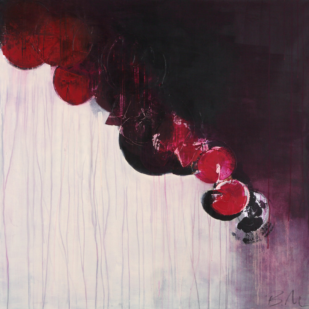 """Law of Attraction , 48"""" x 48"""", acrylic + ink on canvas   AVAILABLE  (please email to enquire about pricing)"""