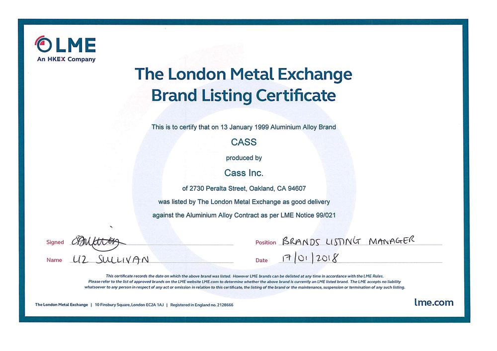 LME Aluminium Alloy Brand Certificate - CASS.png