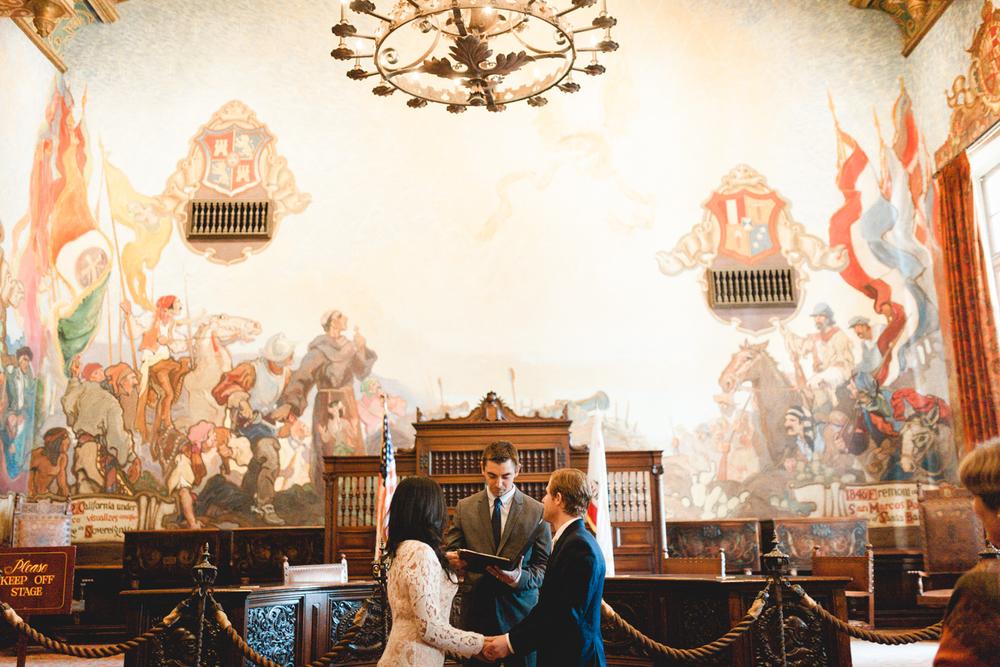 santa barbara courthouse wedding photography