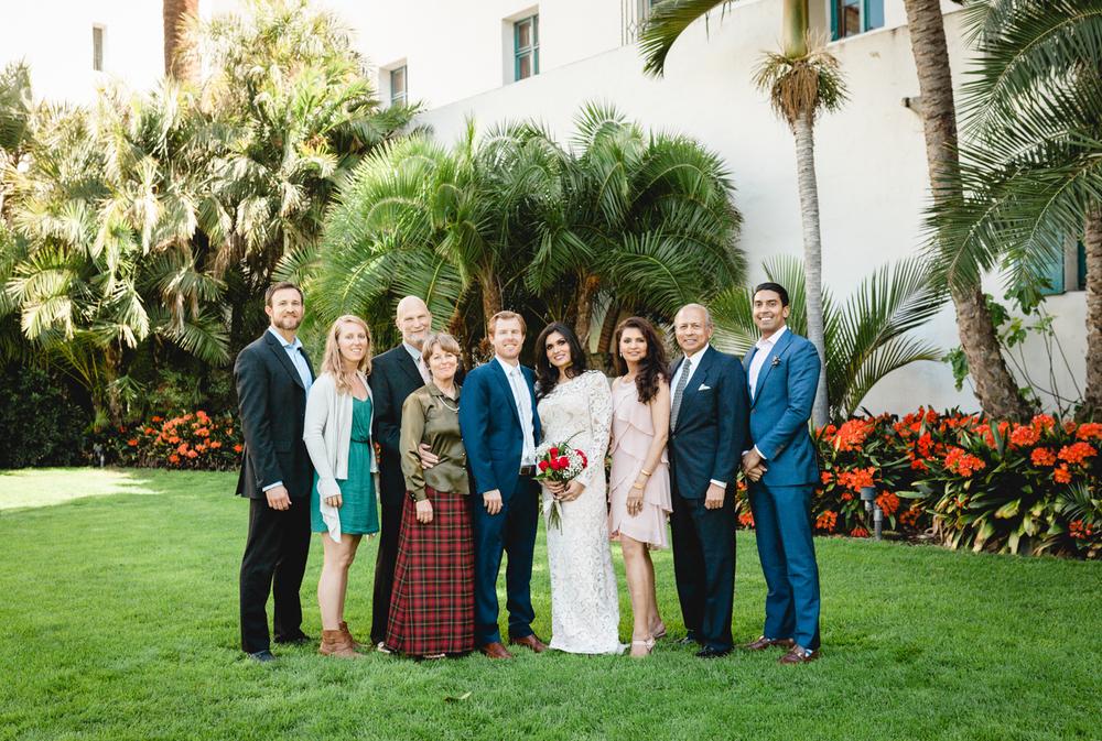 santa barbara courthouse wedding photography family photos