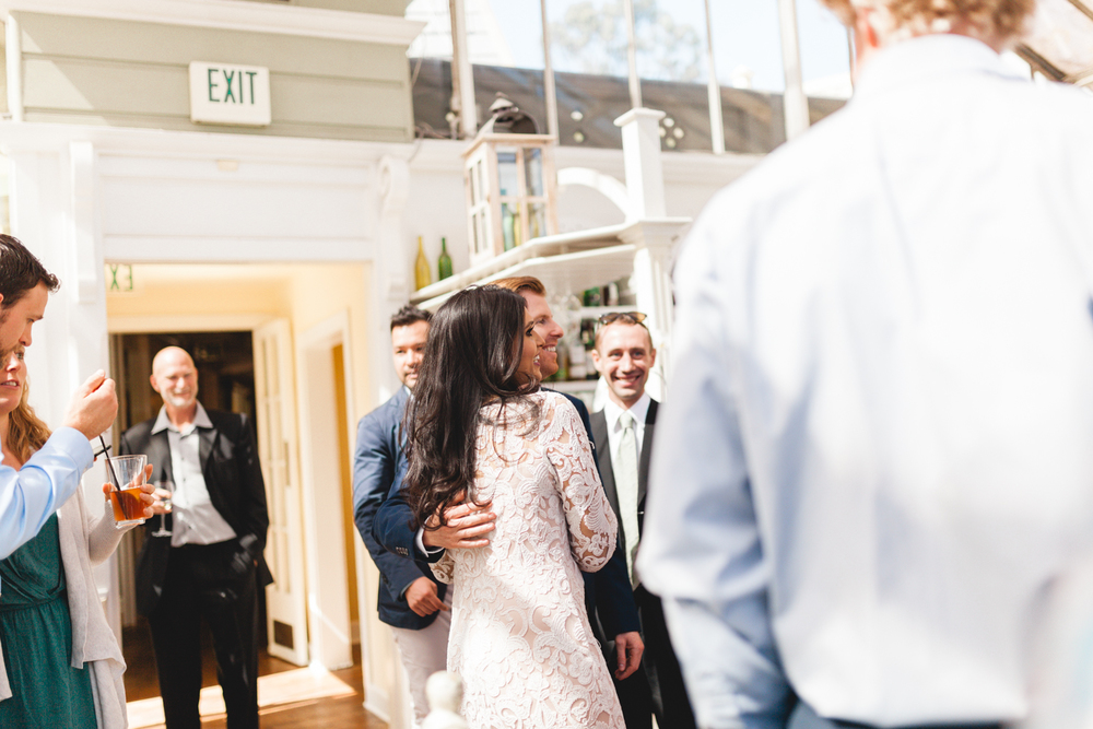 santa barbara wedding photographer bride and groom candid