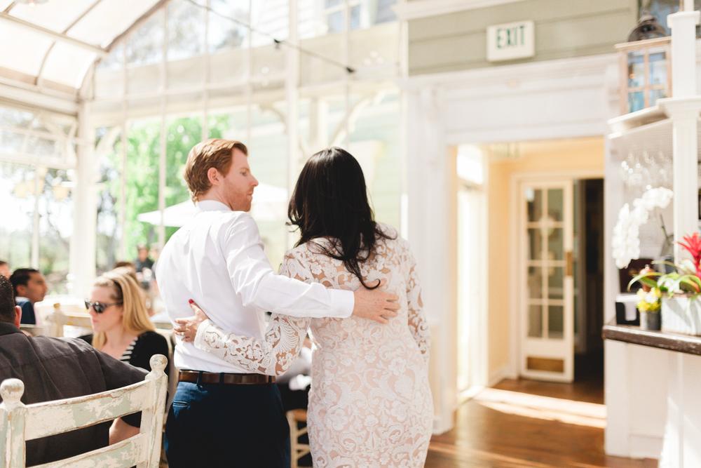 santa barbara wedding photographers reception candid