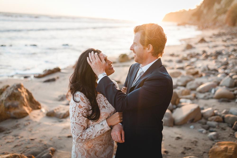 santa barbara wedding photographer beach candid moments