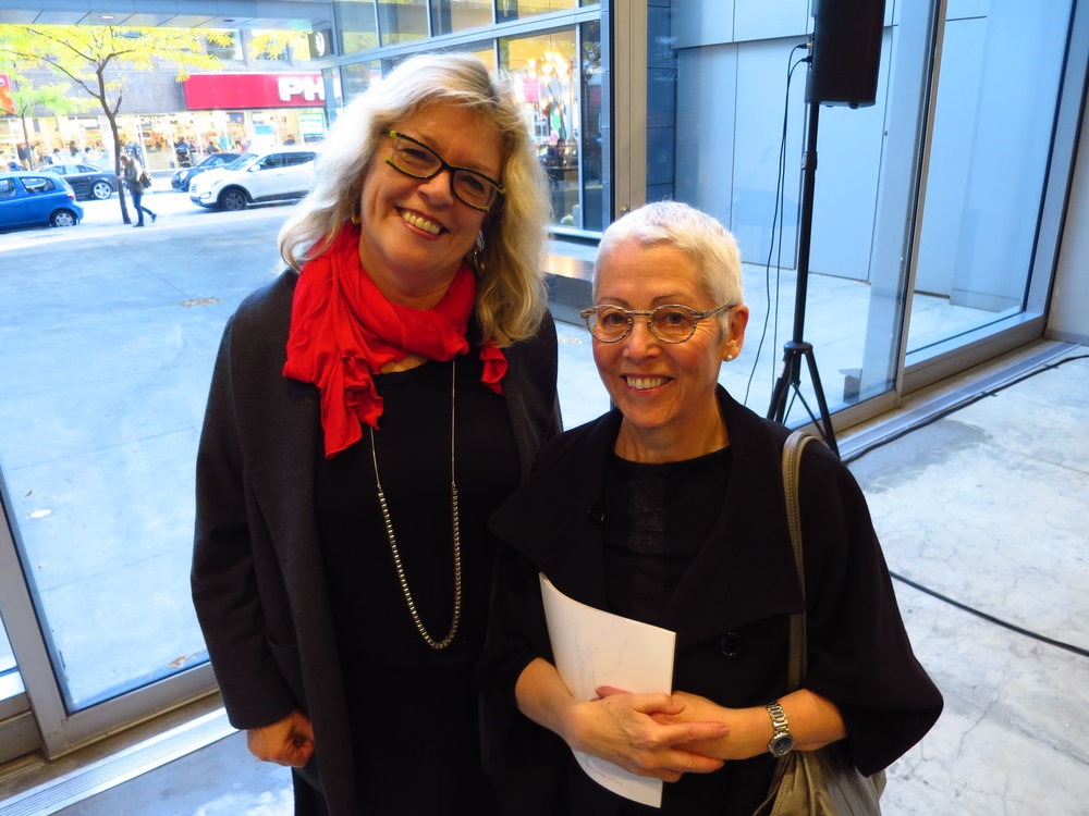 Ingrid Bachmann, artist/principal investigator Hybrid Bodies, and Pat McKeever, senior health researcher