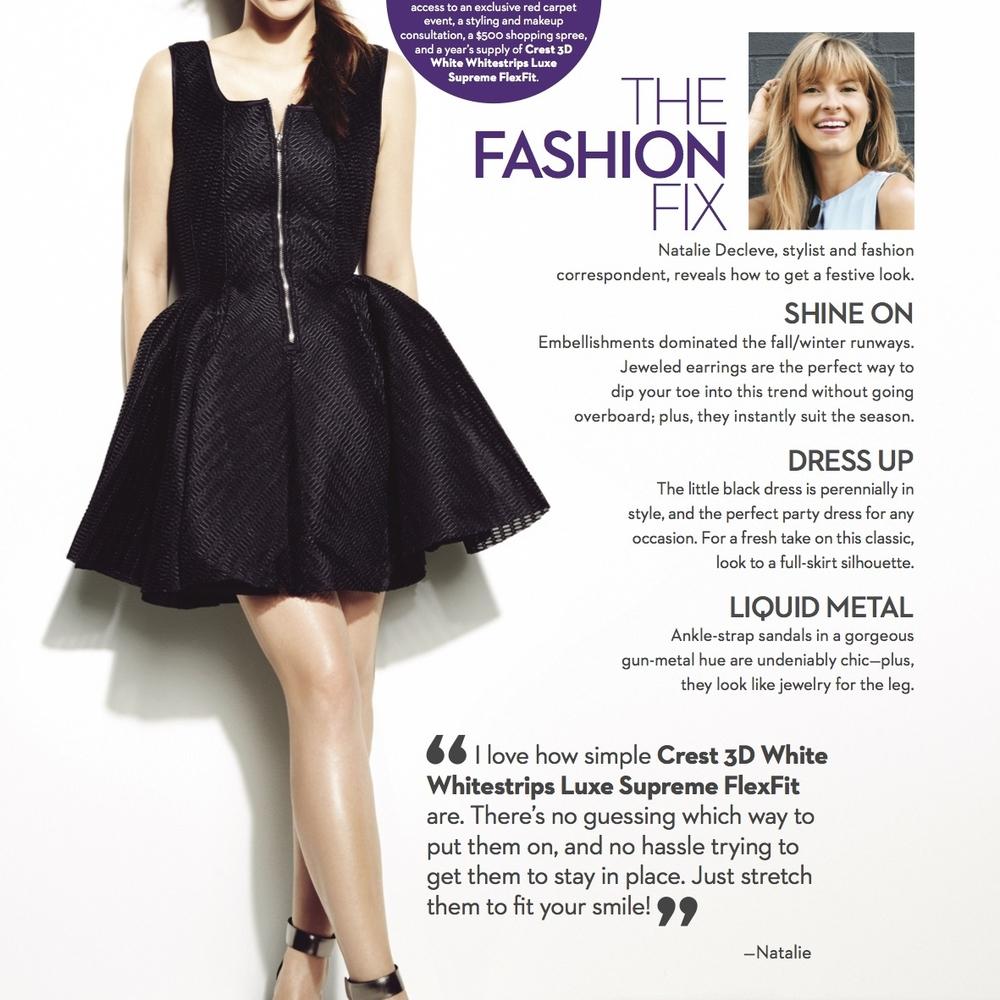 MARIE CLAIREThe Fashion Fix: Natalie Decleve reveals how to get a festive look