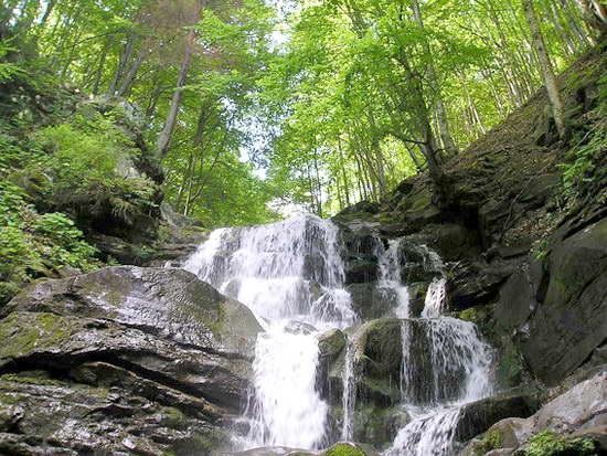 Струмені води водопаду Шипіт зриваються з 14-метрової висоти