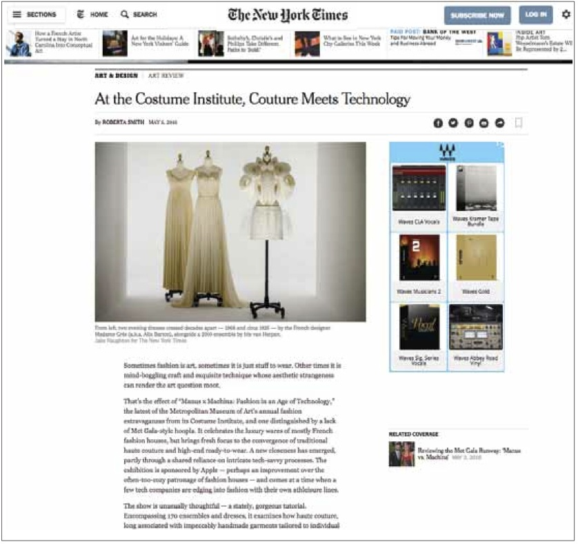 The New York Times Review of the exhibit.  May5th, 2016