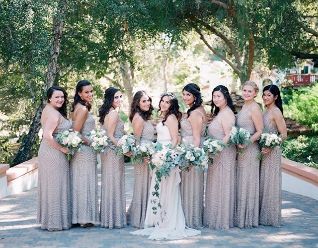 Crushing on cascading bridal bouquets at our favorite @rancholaslomas 💕 __ Featured on @stylemepretty Photography @hellobluephoto  Venue @rancholaslomas Coordination @tresjolieevents