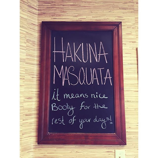 Hakina Masquata! It means nice booty for the rest of your days! It's our problem free philosophy here at Chizel Fitness! Sign up today 🦁💪🏻. • • •  #fitness #chizelfitness #hakunamatata #hakunamasquata #nicebooty #squats #happy #healthy #morriscounty #balletbarre #zumba #strengthtraining #spin #pialtes #personaltraining #transformation