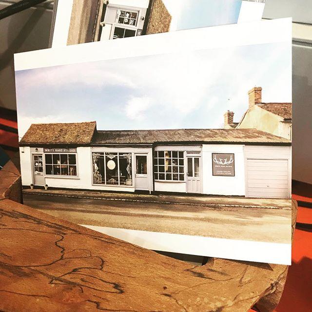 Postcard design for @whitehartstudio  #postcarddesign #businessstationery #freelance #design #burntpeachdesign #localbusiness #greatclients