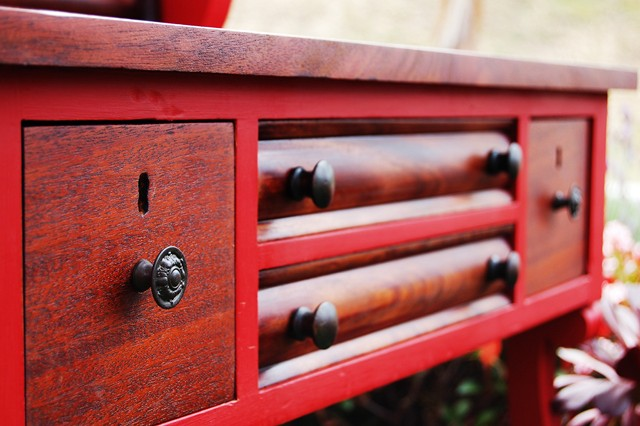 Red Dressing Table Detail