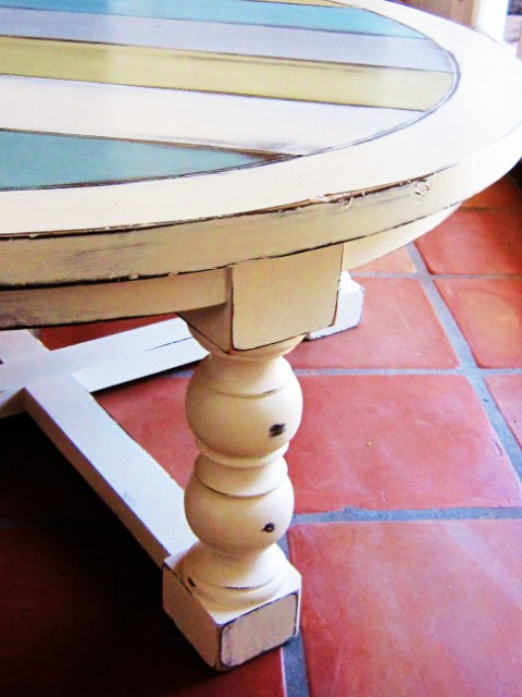 Beachy Striped Coffee Table