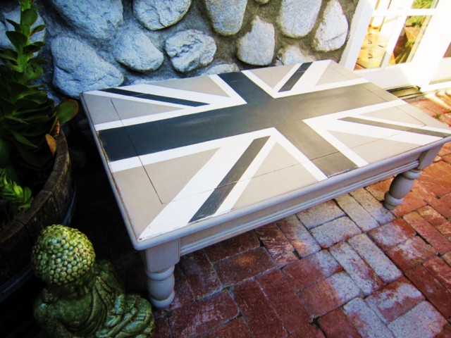 Grey Union Jack Coffee Table