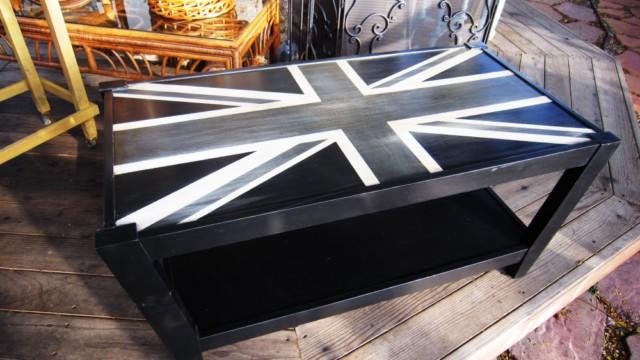 Black Union Jack Coffee Table