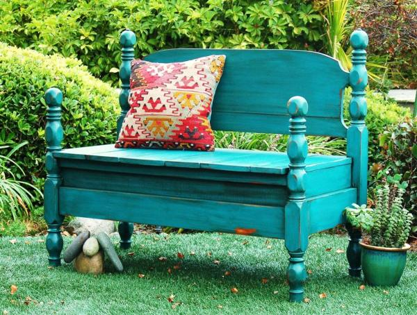 This Is Actually Not A Headboard Bench. Mak Made This Bench Out Of Two  Chairs. We LOVE It Though, So We Had To Share.