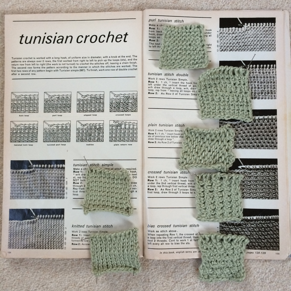 Tunisian Crochet Samples