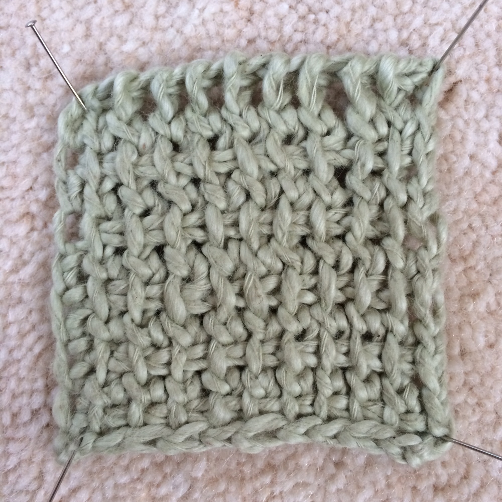 Tunisian stitch double