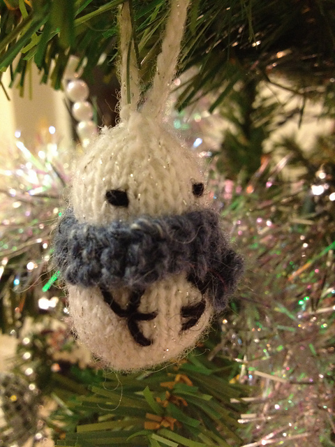 Mochi Snowman on tree