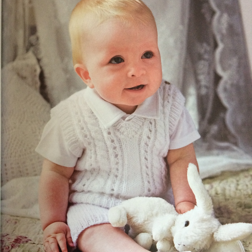 Wood Sorrel Christening Vest & Shorts by Rita Taylor