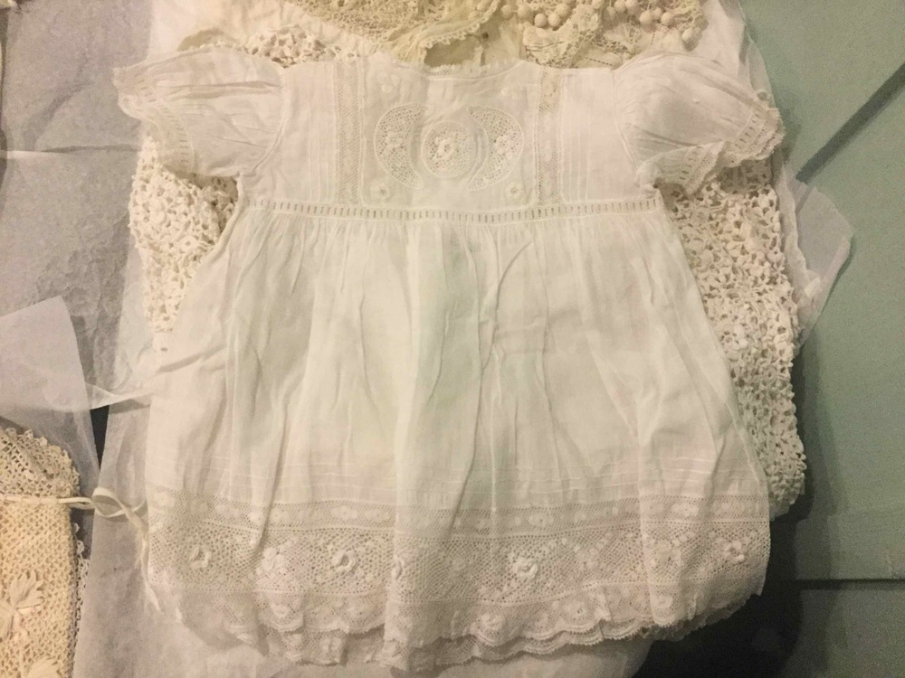 Another Irish crochet baby gown