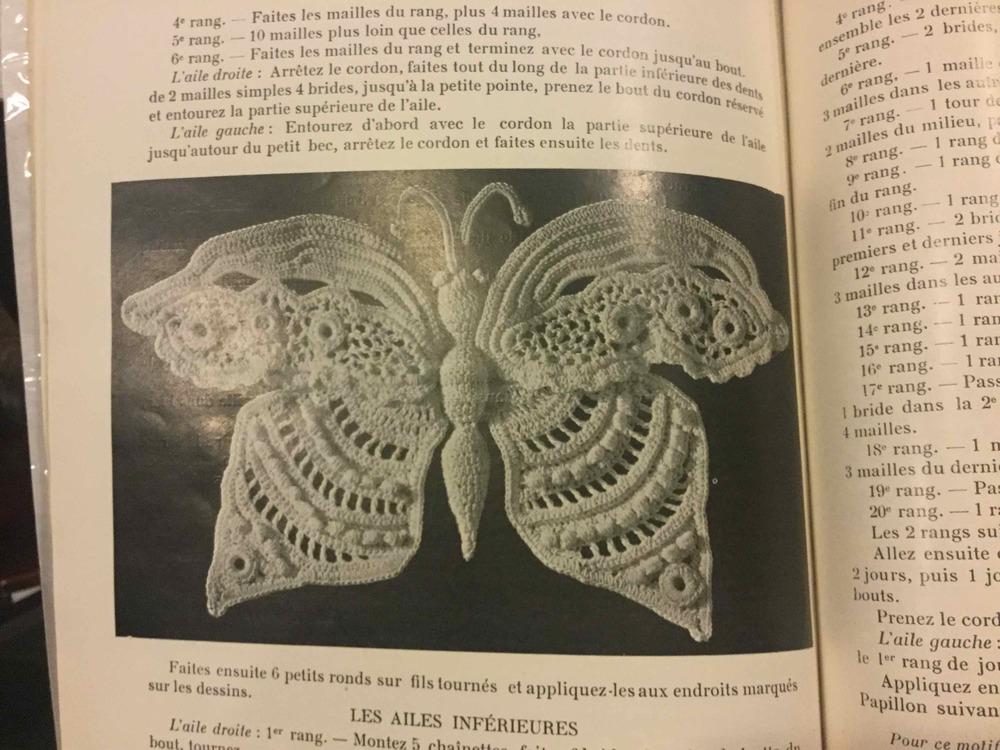 Butterfly motif pattern