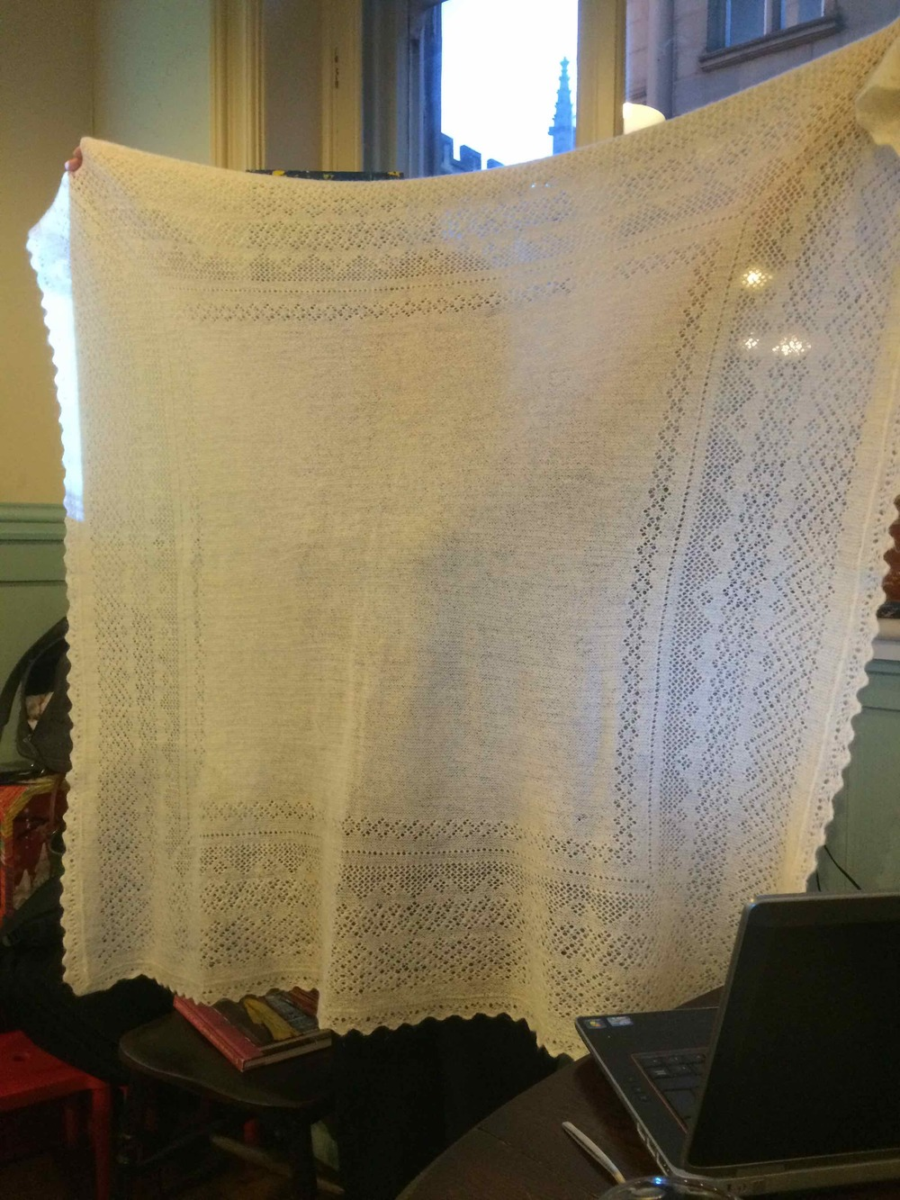 Orenburg shawl belonging to Angharad