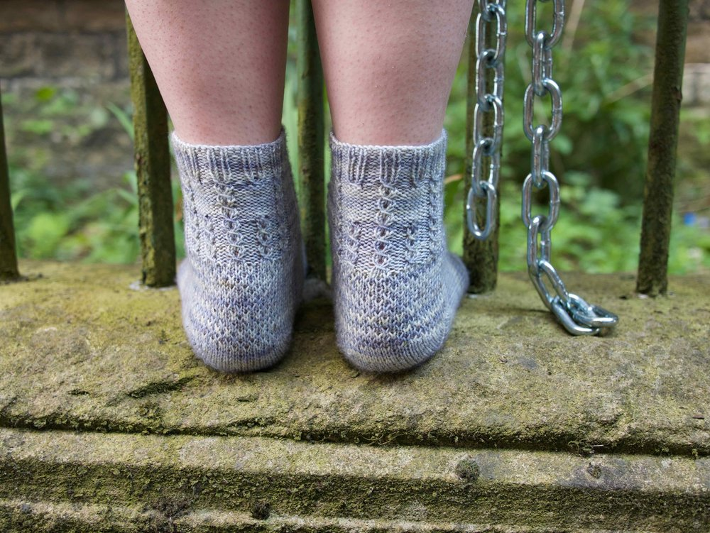The reinforced heels on The Chain socks
