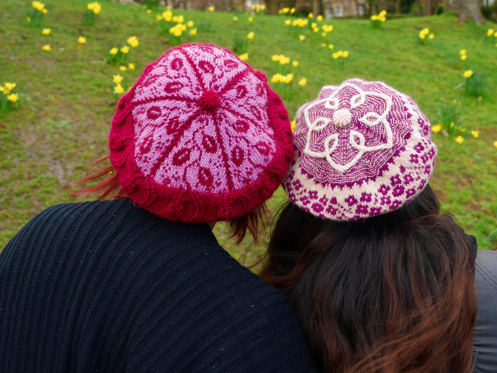 Crown and Yorkshire button detail on beret version
