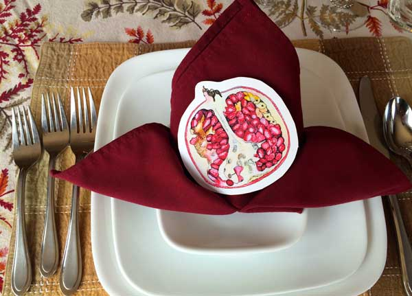 This is some clipart which makes for some nice themed place settings. This is a great inexpensive way to class up the table for those who don't have yards to poke around in.