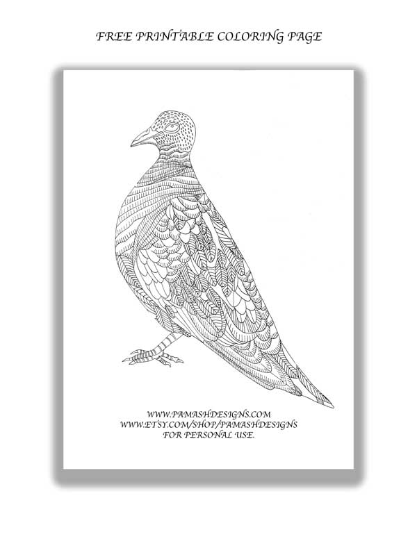 Click  HERE  to download and print your free dove coloring page.