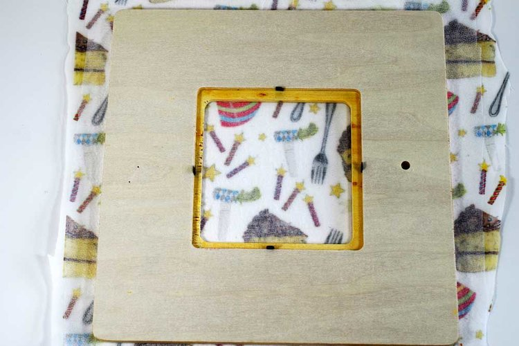 Fabric Covered Picture Frame Pam Ash Designs