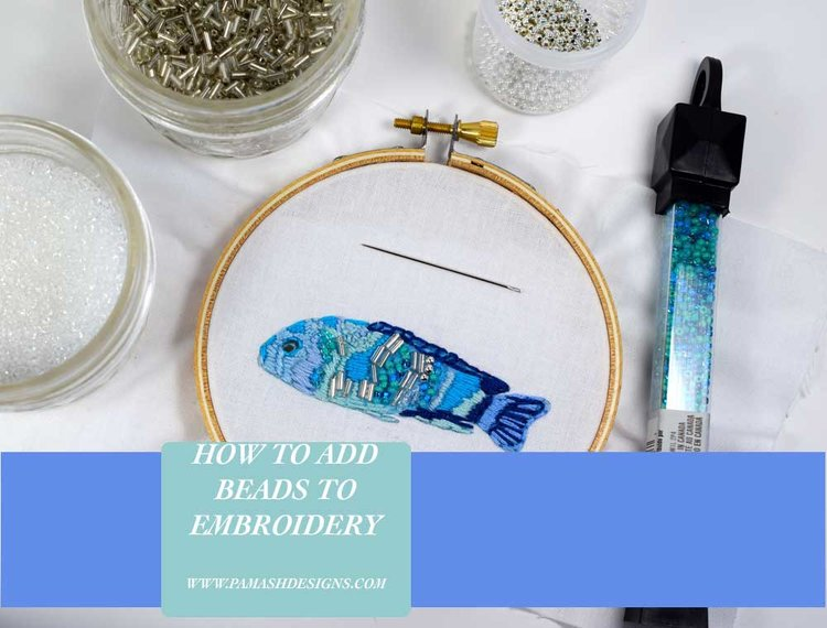 how to embroider with beads pam ash designs