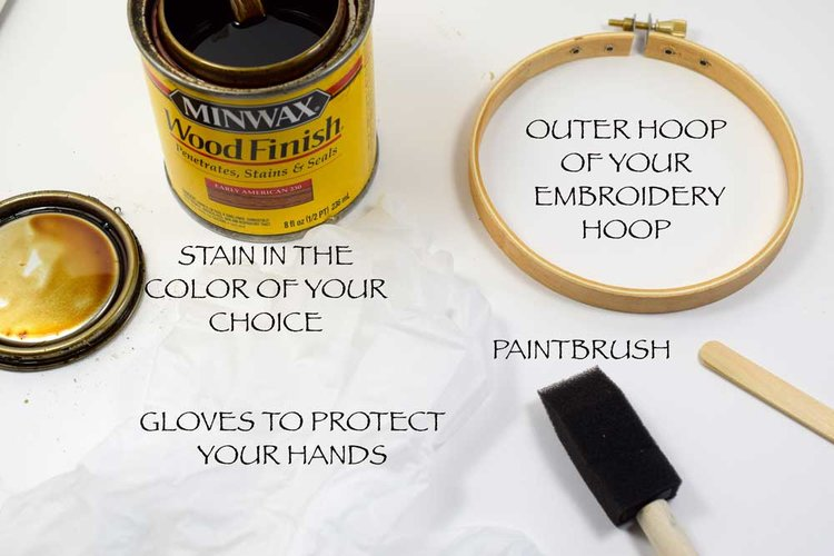 How To Paint And Decorate Embroidery Hoops Pam Ash Designs